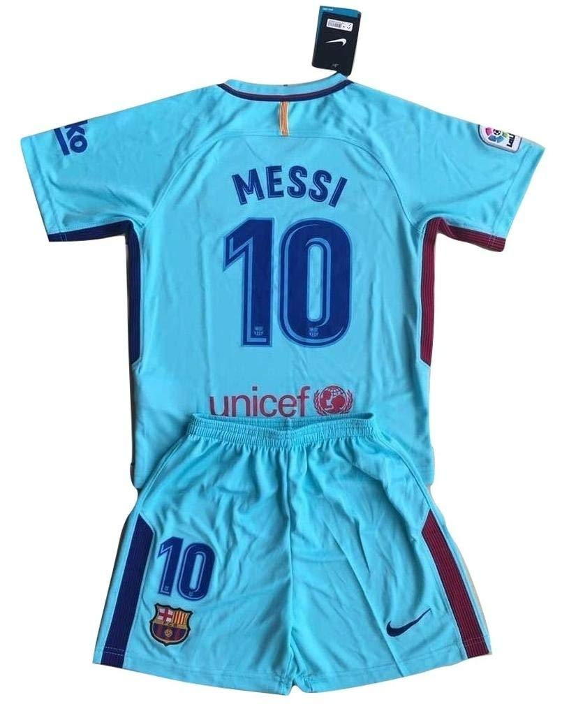 457cfd75cf7 Get Quotations · MilkaGGT Messi  10 FC Barcelona 2017-2018 Youths Kids Away  Soccer Jersey
