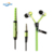 Fashion In Ear zipper headphone mp3 earphone with Mic for iphone mobile phones Universal