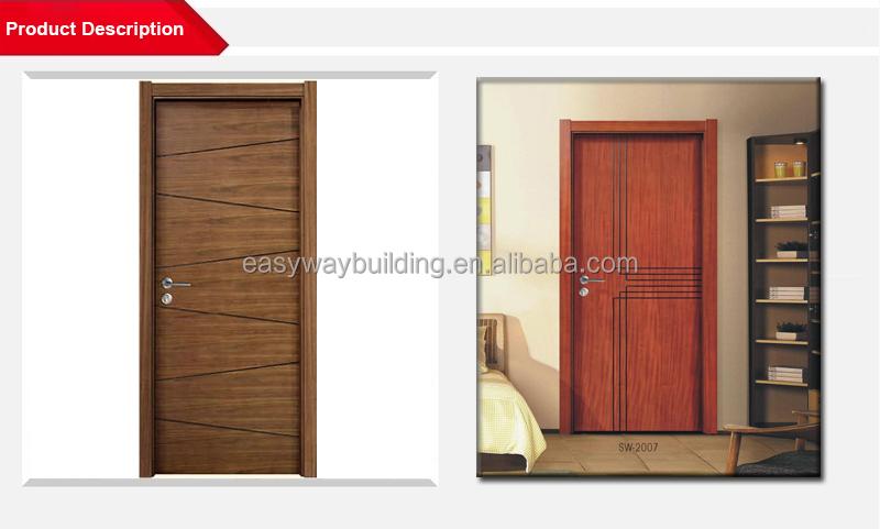 Modern Design Door Factory With Single Painting Veneer Wooden ...