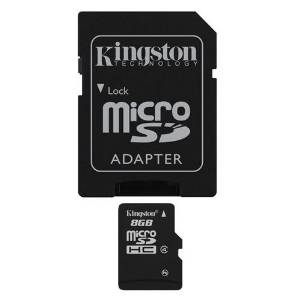 Professional Kingston MicroSDHC 8GB (8 Gigabyte) Card for Kodak EasyShare Z710 Camera Phone with custom formatting and Standard SD Adapter. (SDHC Class 4 Certified)