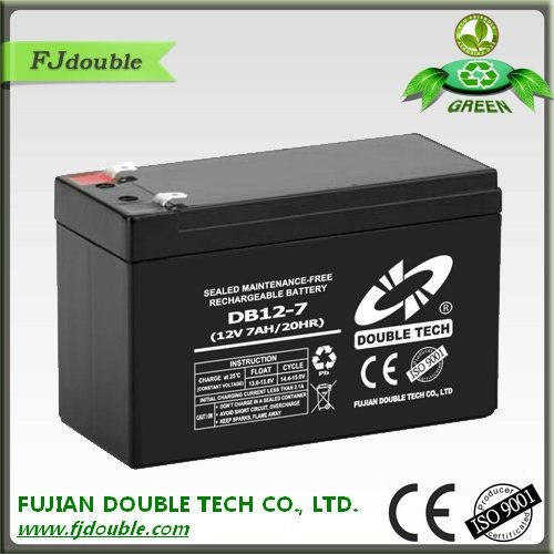 Long life lead acid battery 12v 7ah parts dry cell battery