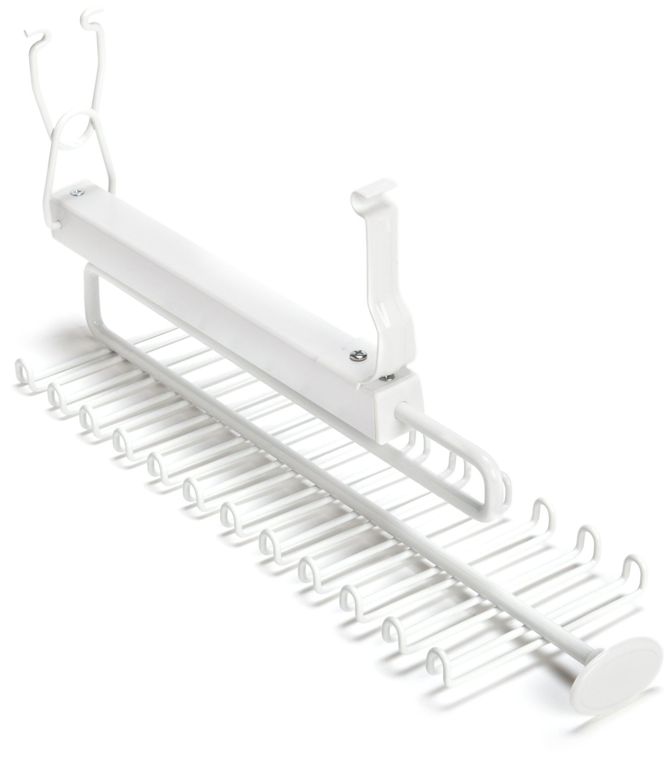 Superbe ClosetMaid 8060 Sliding Tie U0026 Belt Rack For Wire Shelving, White