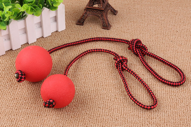 New dog toy rubber ball with rope treat dispenser pet toy dog chew bite training ball toy