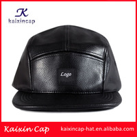 promotional News Boy Faux Leather Flat 5 Panel Hats And Caps