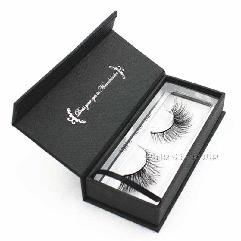 Hand-made Custom Paper Packaging Cosmetic Organizer Eyelash Display Gift Box