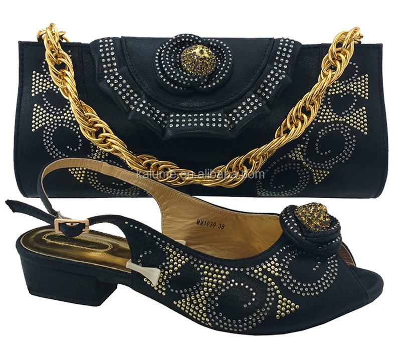 Women Matching Italian And High Bag Gold Bags With Quality MM1039 To Designer Color Match Shoes Latest Shoe Shoes ppv6B