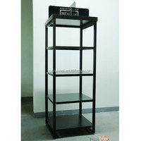 4 tiers floor standing metal cosmetic display unit