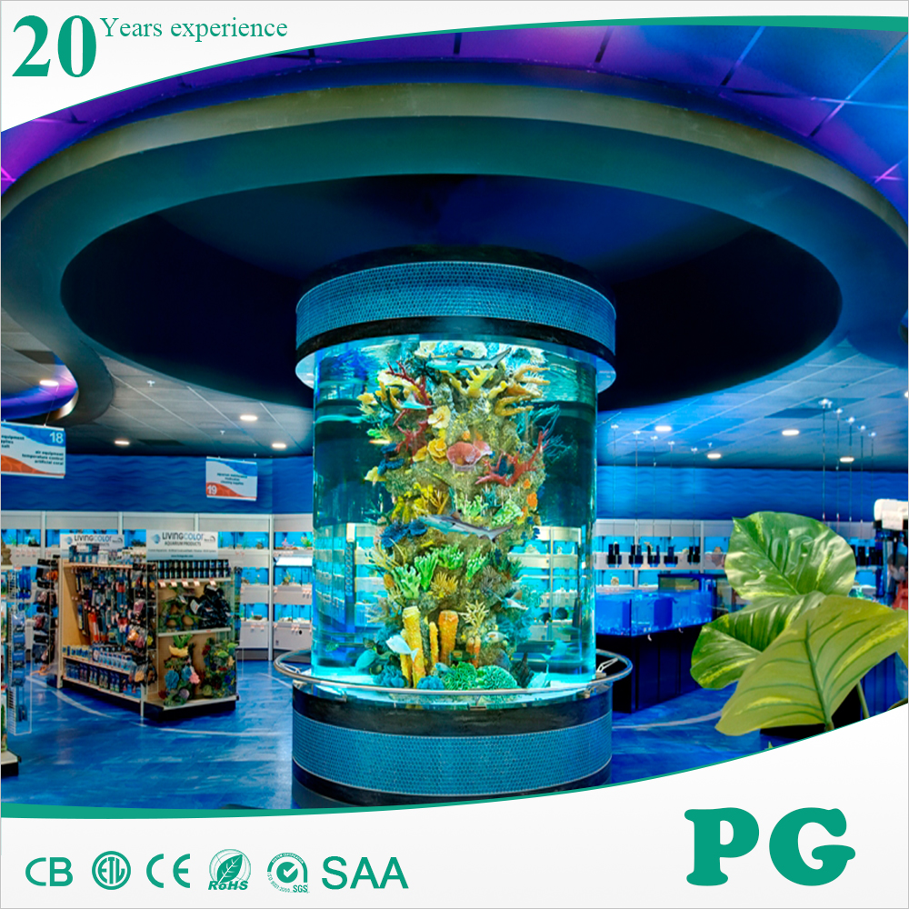Pg Acrylic Custom Product Large Fish Tank Saltwater ...