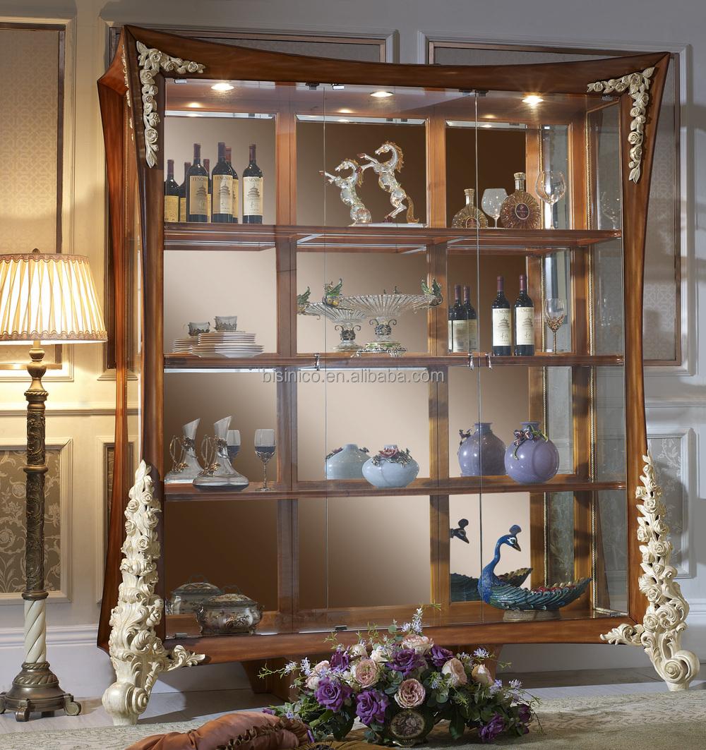 Italie Nouveau Design Ornement Solide Mont Salon Armoire Vin  # Armoire De Salon En Bois