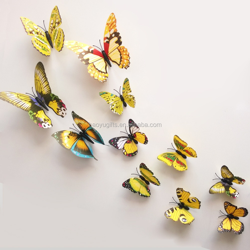 Butterfly Cut Out Pattern Removable Home Wallpaper Art Diy