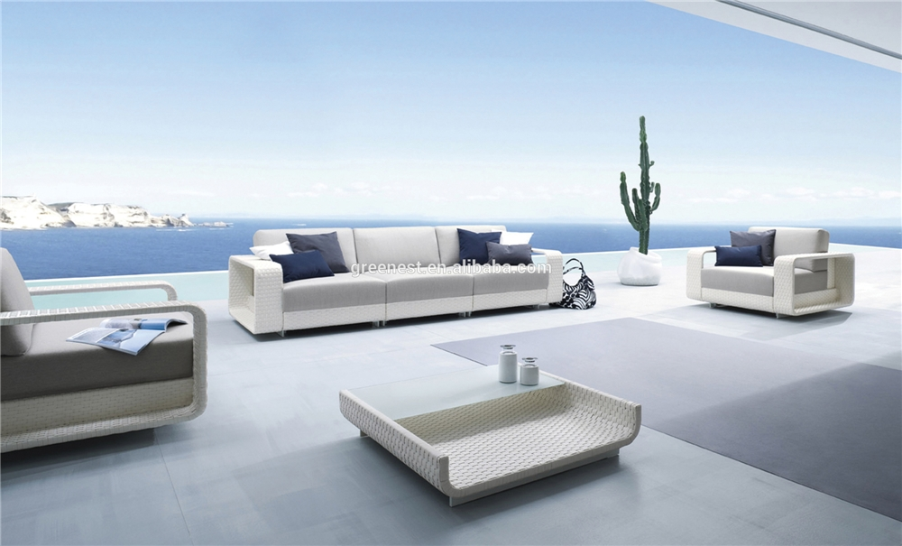 High quality out door furniture garden white classic sofa set italian