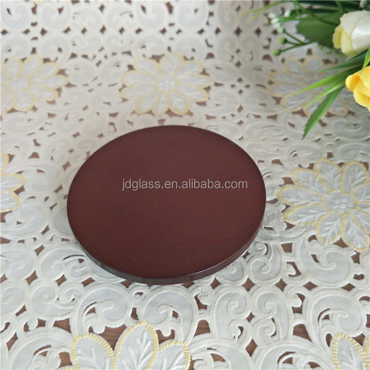 Home decoration luxury design candle glass wooden covers lid