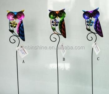 Iron Owl Metal Garden StakeVivid Cast Iron Decorative Yard Stakes