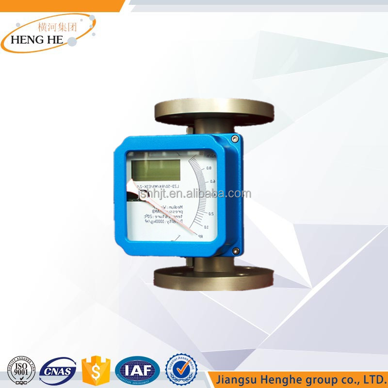 Smart Flange Connection Explosion Proof Metal Tube Float Flowmeter with digital readout system