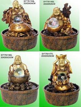 Poly Resin Buddha Water Fountain (Laughing Buddha)