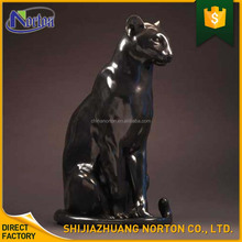 outdoor garden life size Bronze sitting Panther sculpture wholesale NT-BS275Y