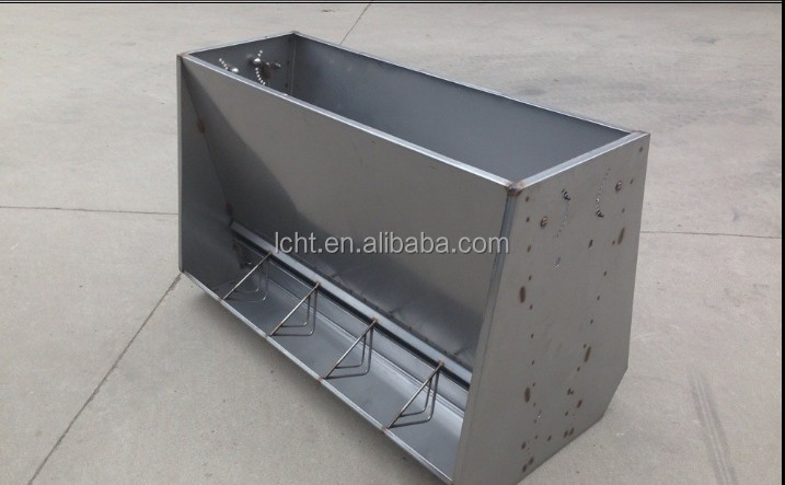 Stainless Steel Double Sided Pig Feeder Two Side Pig