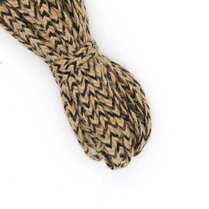 Colorful High Strength DIY Two Colors Braided Flat Twine Hemp Jute Rope