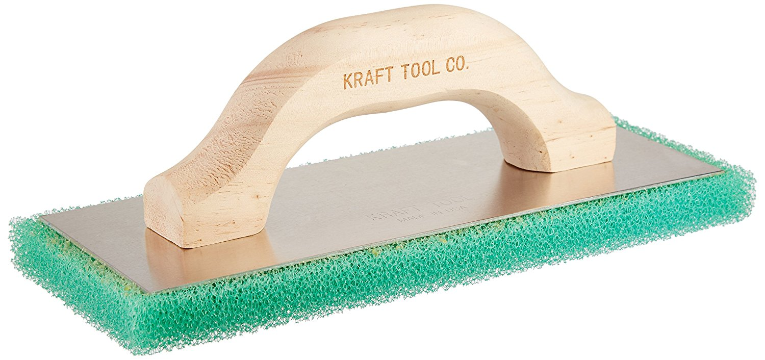 Kraft Tool PL602 Green Coarse Texture Float with Wood Handle, 10 x 4 x 3/4-Inch