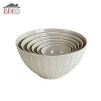 lightweight Grey Melamine Dinnerware mixing bowl set