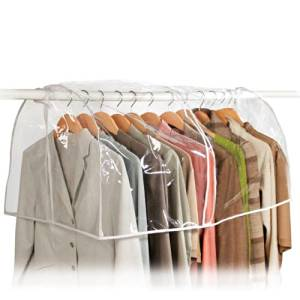 Clear Storage Garment Bag Closet Suit Vinyl Clothes Rack Cover Dust Protector