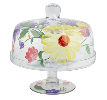 5bf3c98c5c54 dome cake cover cake stand Spring Happy Floral Cheap Cake Stands with Dome