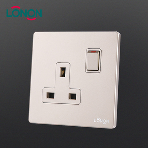 Durable Home use PC 250V 1 Gang 13A DP electrical 3 Pin Plug wall socket and switch