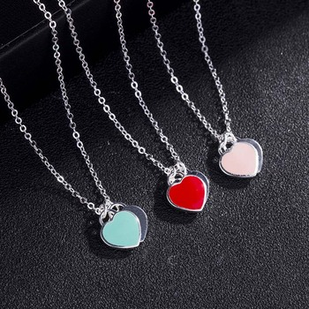 AP22584 wholesale sterling silver love heart necklace jewellery Dropshipping