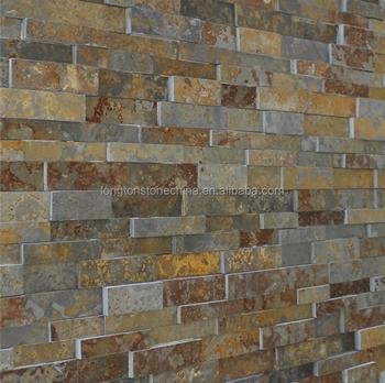 Multi Split Face Stone Tile Rock Panels Wall Cladding Mosaic Slate Tiles