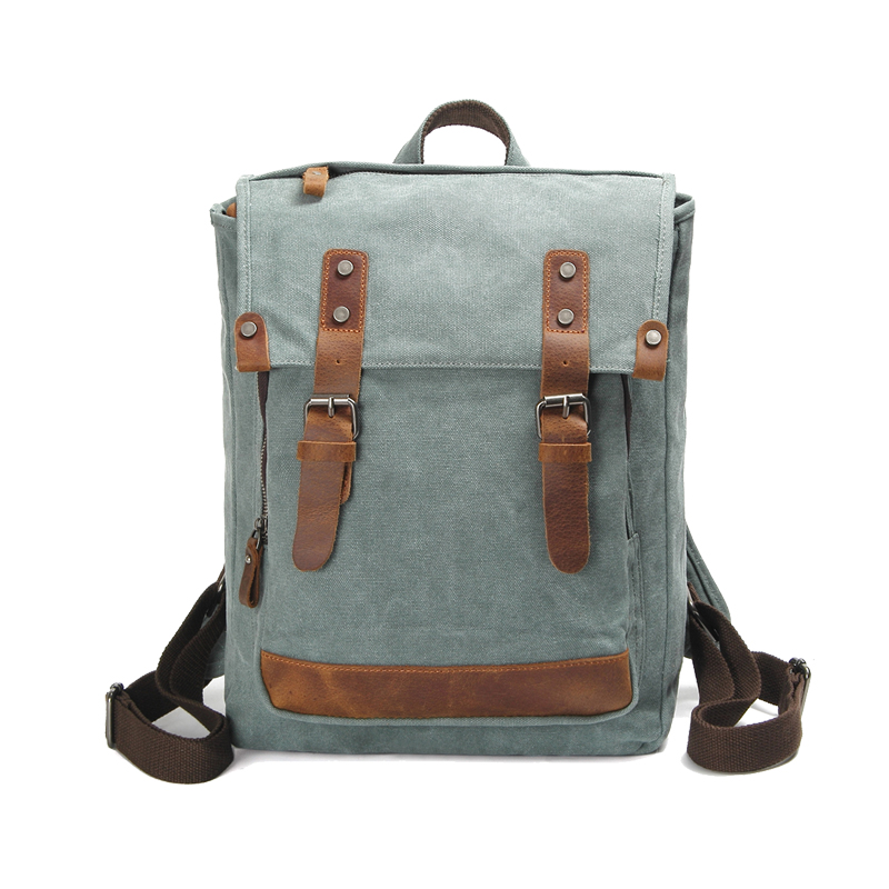 1f93d0a6db6 Customized Teens Modern School Backpacks High Quality Men Wash Canvas  Genuine Leather Backpack - Buy Leather Backpacks Men Genuine,Leather  Backpack ...