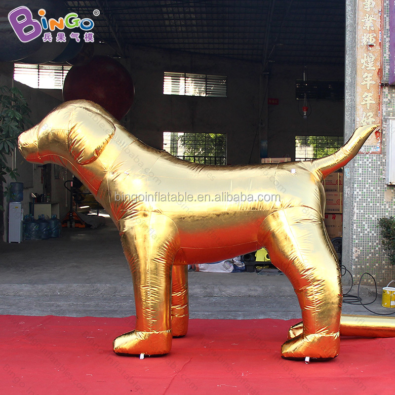 2018 New year inflatable dog golden cartoon characters