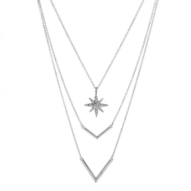 925 silver jewelry star layered where to buy a choker necklace