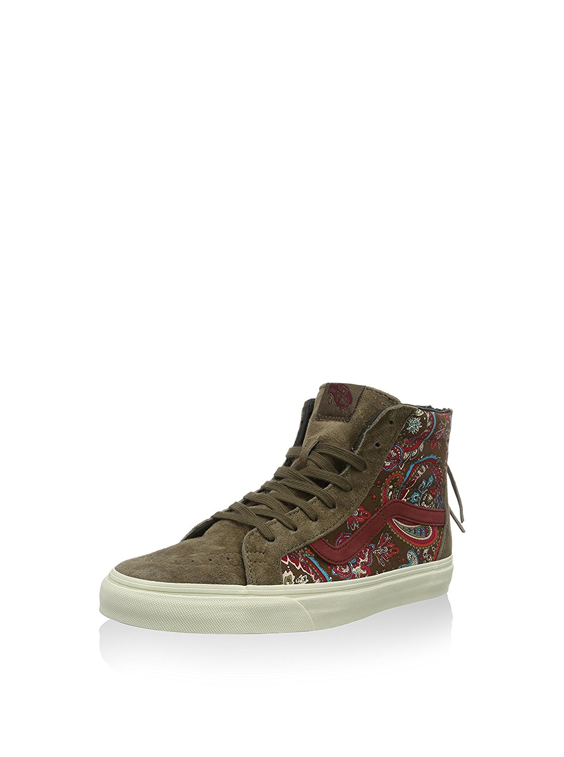 a50966fcefecbd Get Quotations · Vans Sk8-Hi Zip Ca Paisley Olive Ankle-High Suede Fashion  Sneaker - 10M