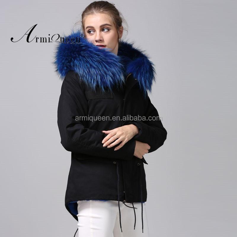 Ladies Black Shell Winter Faux Fur Lined,Short Parka Warm Black ...