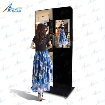 32 inch Chinese design indoor magic interactive smart mirror for mall and clothing shop