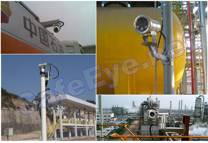 Professional MA certificate Explosion proof Camera with IR laser infrared proof camera housing Support POE solar power supply
