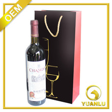 Manufacturers Supply Red Wine Packing Bag Paper Wine Hand Bags