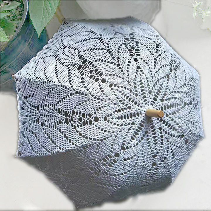 acbd93b102 2017 Del Nuovo Crochet Wedding Lace Umbrella Beach Party Elegante  Decorazione Del Merletto Ombrello Parasole