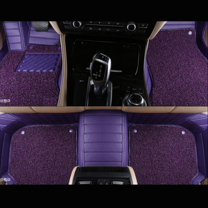 New Arrival Low Price 5D Leather Purple Car Mats