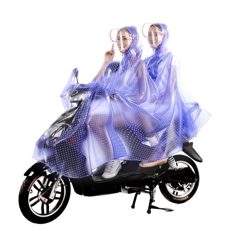高品質再利用可能な防水オートバイライダー/オートバイレインポンチョレインコート大人のための