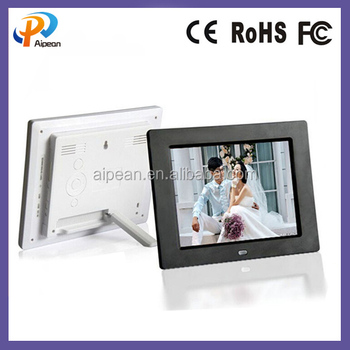 8 Inch Led Screen Digital Photo Frame 1024*768 Dots Lcd Advertising ...