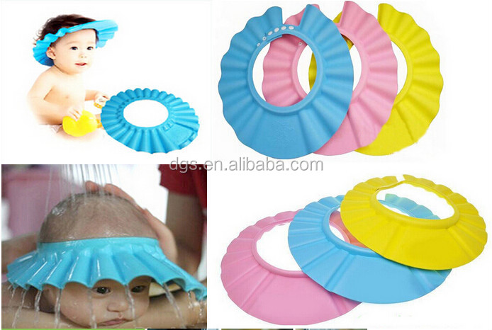 2017 Hot Selling Baby Shower Cap Kidsu0027eyes Protector Baby Bath Hat Bathing  Cap