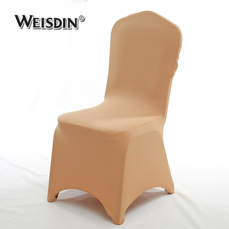 Guangzhou 300gsm stretch wedding100% polyester bow banquet hall spandex chair cover