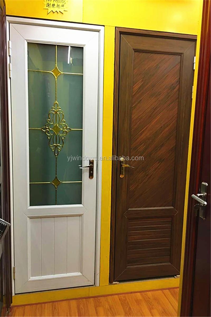 Bathroom Upvc Doors upvc material toilet door cheap bathroom door with glass - buy pvc