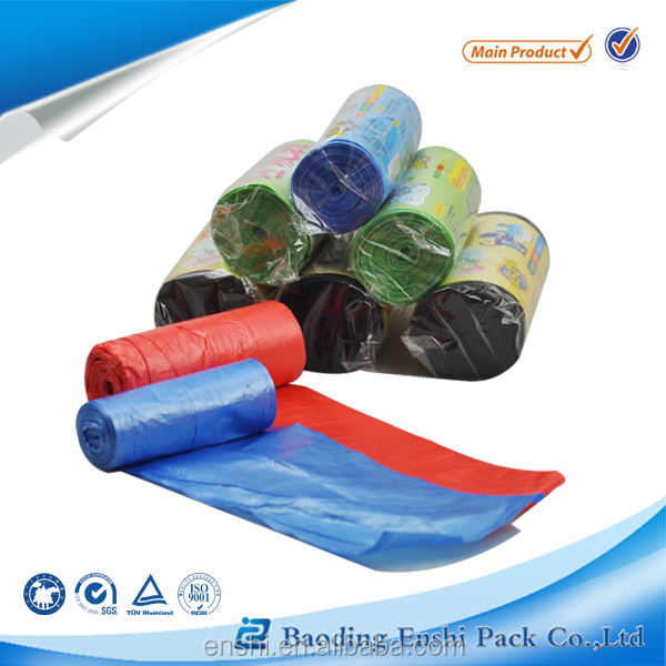 Customize Any Size LLDPE Colored Plastic Garbage Bag Trash Bag