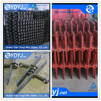 Slat conveyor chain with high precision