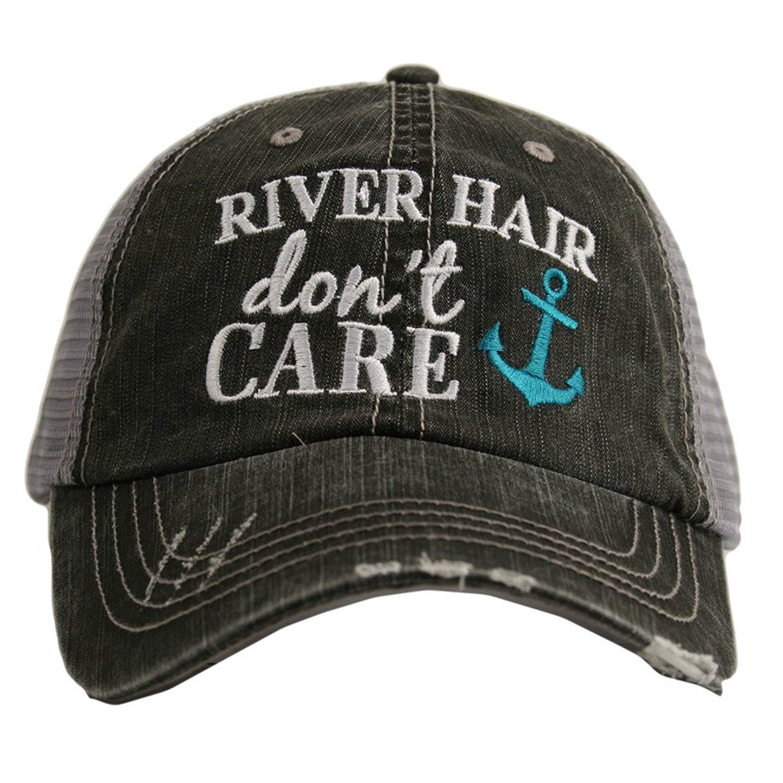 Hats Katydid KDC-TC-164 Teal River Hair Don't Care Trucker