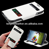 White Leather Flip Cover Case Cell Phone Accessories case For Samsung Galaxy S4 i9500