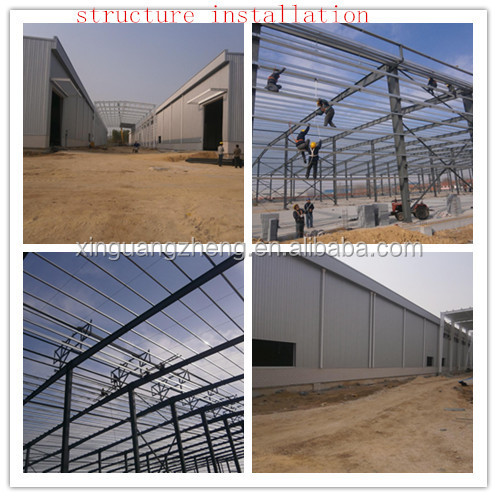 Steel Fabricated galvanized warehouse layout design