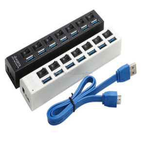 High speed usb separator 3.0 hub 7 ports with independent switch expansion hubUSB3.0.